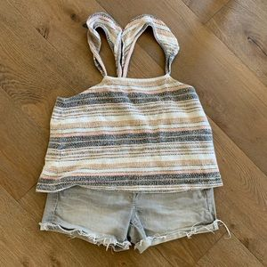 🍍Women's Madewell top & shorts bundle